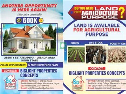 Land for Sale in Agbara, Agbara, Lagos