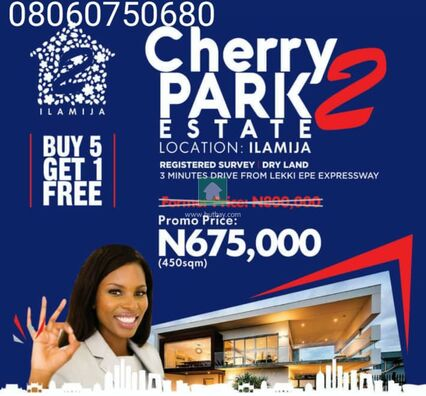 CHERRY PARK ESTATE PHASE 2, ILAMIJA, Lekki, Lagos