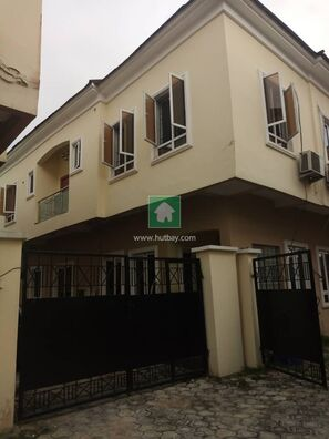 NICE 4 BEDROOM FULLY DETACHED DUPLEX WITH A  BQ FOR RENT AT CHEVRON, Lekki, Lagos